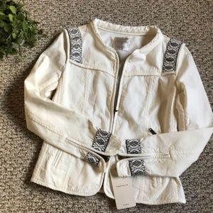 NWT ZARA embroidered white jacket size S